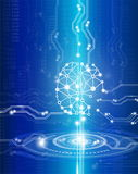 Digital brain genius. Science and  technology concept,digital brain genius with electric circuit and medical in future Stock Photo