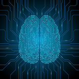 Digital brain illustration Stock Photography