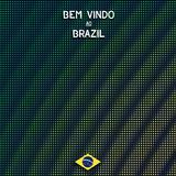 Digital Brazil background Stock Images