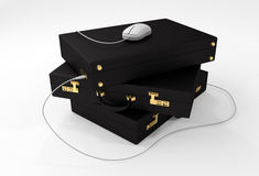 Digital Briefcase with USB Mouse Stock Photography