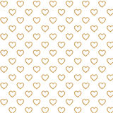 Digital brown hearts and white color paper Stock Images