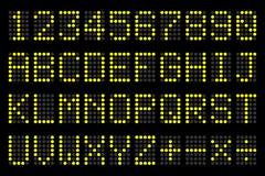 Digital-Buchstabe- und -zahlSchaukasten für Flughafenzeitpläne Lizenzfreies Stockbild