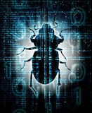 Digital bug  illustration Royalty Free Stock Photo