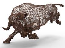 Digital bull mesh Stock Photo