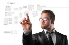 Digital business. Portrait of  businessman toucing digital interface Stock Images