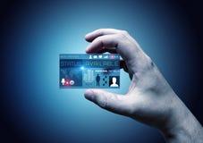 Digital Business Card Stock Photo
