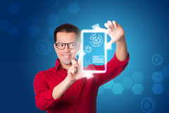 Digital business intelligence Royalty Free Stock Image
