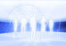 Digital business people Stock Photography