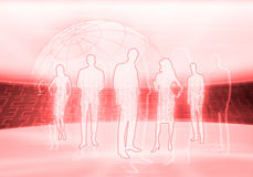 Digital business people Royalty Free Stock Photo