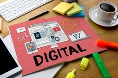 Digital Business Team Digital Device Technology , Digital Busine Stock Photography