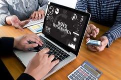 Digital BUSINESS TRANSFORMATION  , Hi-tech technological Digita Royalty Free Stock Photo