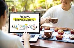 Digital BUSINESS TRANSFORMATION  , Hi-tech technological Digita Royalty Free Stock Photography