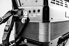Digital button accordion Stock Photo