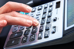 Digital calculator Stock Photography