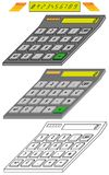 Digital Calculator Model in Isometric View Stock Image