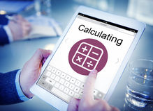 Digital Calculator Webpage Application Concept Stock Photo