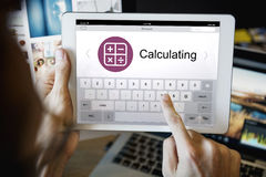 Digital Calculator Webpage Application Concept Royalty Free Stock Images