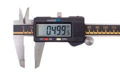 Digital caliper. Close-up of digital caliper. Isolated on white background stock photos