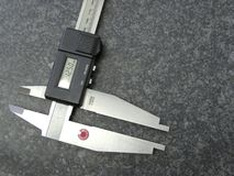 Digital calipers. To measure exact Stock Image