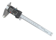 Digital calipers on white Royalty Free Stock Image