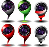 Digital cam icon set Royalty Free Stock Image
