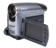 Digital Camcorder. Video camera isolated over white Stock Photos