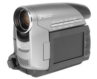 Digital Camcorder. Video camera isolated over white Stock Photography