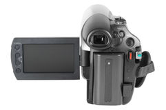 Digital Camcorder. Video camera isolated over white Stock Images