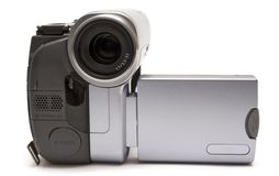 Digital Camcorder (Front View). Consumer camcorder isolated on white Royalty Free Stock Photos