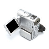 Digital camcorder isolated on white background. Royalty Free Stock Image