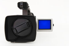 Digital camcorder on white background Stock Images