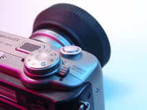 Digital Camera. Photo of Digital Camera With Colored Lighting stock photos