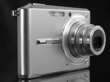 Digital camera. Black-white digital camera stock photos