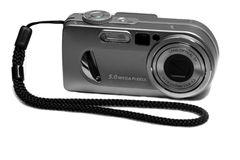 Digital camera. Isolated on white Royalty Free Stock Photography