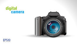 Digital camera. Proffesional slr digital camera - vector/ eps 10 Stock Photography