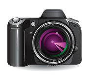Digital camera. Over white background royalty free illustration