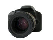 Digital camera. Digital SLR camera isolated on white Royalty Free Stock Photography
