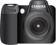 Digital Camera. Vector of modern digital camera royalty free illustration