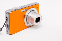 Digital Camera. Compact point and shoot digital camera. White background royalty free stock photography