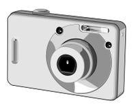 Digital camera. Vector illustration of a digital camera stock illustration