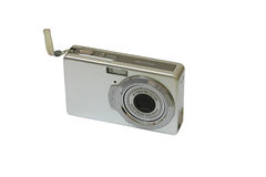 Digital camera. Isolated on the white background Royalty Free Stock Photography
