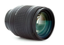Digital camera or 35mm zoom lens. Isolated Royalty Free Stock Photo