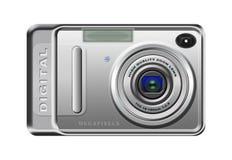 Digital camera. Isolated on white stock illustration