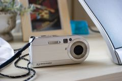 Digital Camera. Point and shoot Compact stock photography