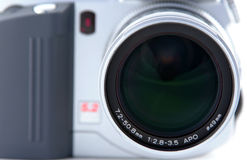 Digital Camera. Close up of lens on digital camera Stock Photography