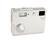 Digital camera. Silver photo camera royalty free stock image