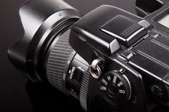 Digital camera. Close up detail Royalty Free Stock Image