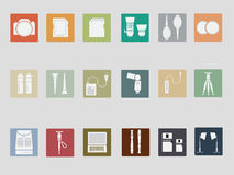 Digital Camera and Accessories Flat Style icon Royalty Free Stock Images