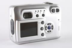 Digital camera back. Silver digital camera back Royalty Free Stock Photography