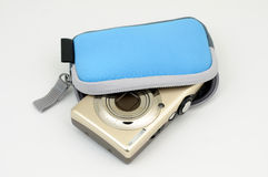 Digital camera in case royalty free stock photography